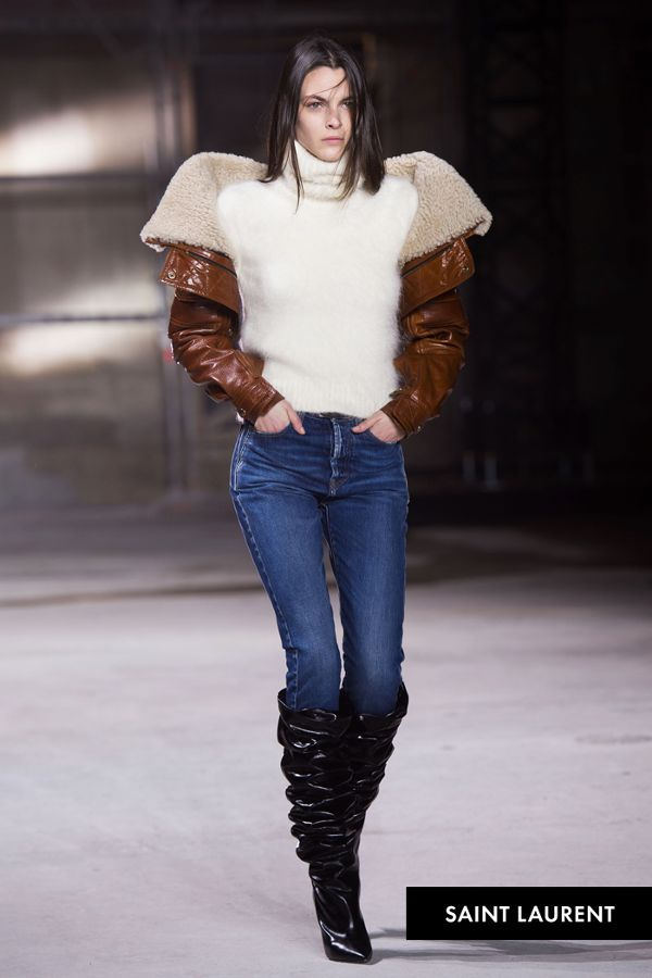 Saint Laurent featured slouch boots in its fall fashion week show last February. (Photo: Getty Images)