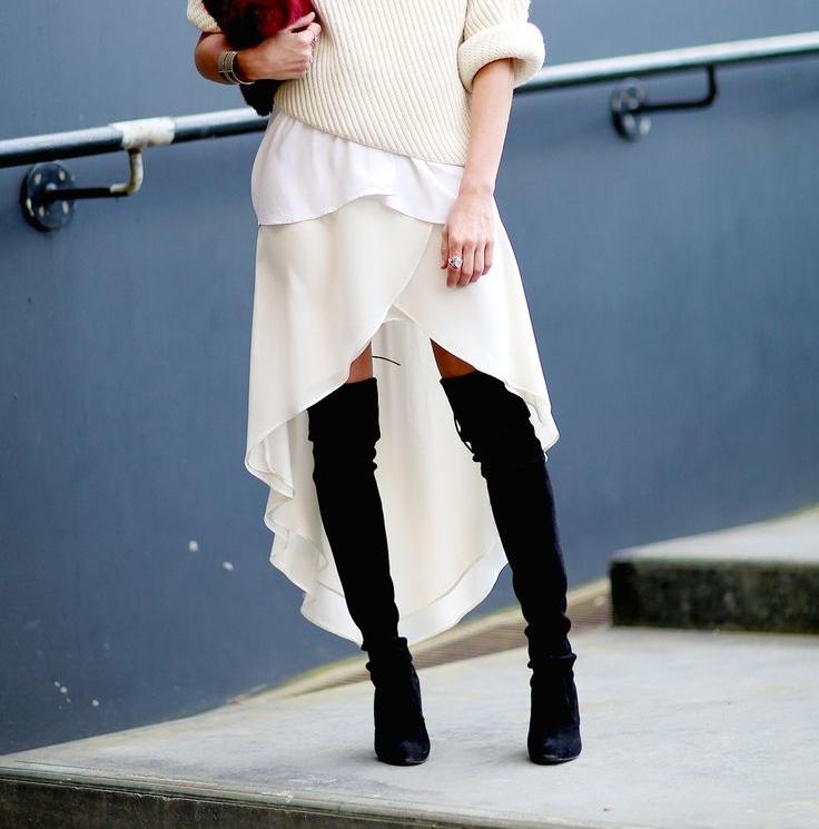 Asymmetric wrap skirts show off your legs. (Photo: GlamRadar)