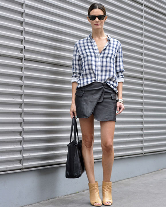 Wrap miniskirts are flirty for summer date nights. (Photo: Fashion Tag)