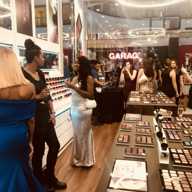 The grand opening of the the Tysons Corner Center Inglot store had a DJ, makeup artists and plenty of products to test. (Photo: Emma Blancovich/DC on Heels)
