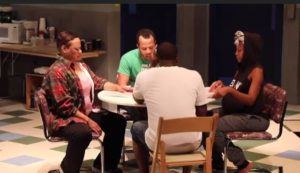 <em>Skelton Crew</em>, about workers at a Detroit auto manufacturer, is now playing at Studio Theatre. (Photo: Studio Theatre)