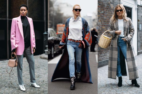 A black turtleneck with a bright summer blazer, layers or a tee and jeans with a checkered trench coat will keep you comphy in this changing weather. (Photos: Getty Images)