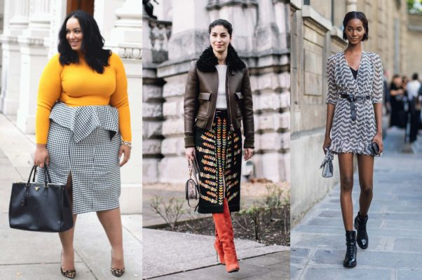 Transitional office looks include a bright yellow sweater with your favorite summer skirt, a pencil skirt with knee-high boots or a mini with combat boots and a chunky belt. (Photos: Beaticurv/Getty Images/Getty Images)
