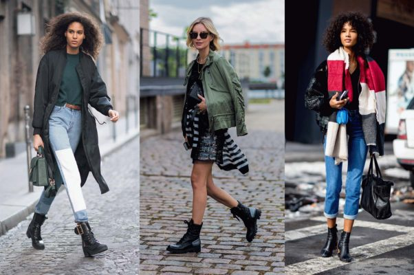 For casual fall outfits, try light denim with a trench and boots, a ligh sweeater around your waist and a utility jacket over your shoulders or   cropped jeans with a cropped jacket and oversided blanket scarf. (Photos: Getty Images)