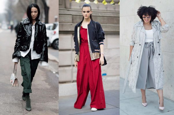 Roolled up cropped pants with a leather jacket and boots, a bomber jacket and sneakers with your jumper or cropped trousers and a matching trench coat will keep you warm and cool. (Photos: Getty Images/ Getty Images/GabiFresh)