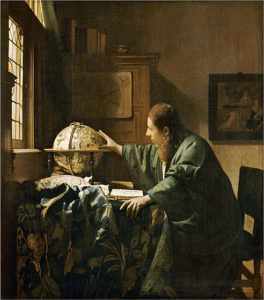 Ten paintings by Johannes Vermeer, including <em>The Astronomer</em>, above, go on display Sunday at the National Gallery of Art. (Photo: Franck Raux/RMN-Grand Palais)