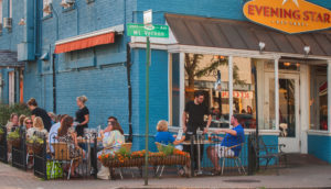 The Evening Star Cafe in Alexandria's Del Rey neighborhood hosts a 20th anniversary block party from noon-6 p.m. on Saturday. (Photo: R. Kennedy/Visit Alexandria)