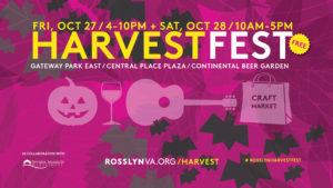 The new Harvest Festival in Rosslyn celebrates autumn on Friday and Saturday. (Graphic: Rosslyn BID)