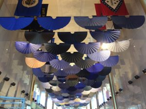 Fantasy in Japan Blue is on display at the Kennedy Center's Hall of Flags through Nov. 12. (Photo: Kennedy Center)