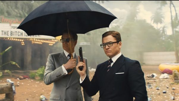 <em>Kingsman: The Golden Circle</em> eeked out first place last weekend with $16.94 million, barely beating <em>It</em> and <em>American Made</em>. (Photo: 20th Century Fox)