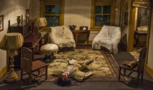 Parsonage Parlour by Frances Glessner Lee is one of the miniture crime scenes on display at the Renwick Gallery. (Photo: Renwick Gallery)