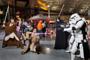The Udvar-Hazy Center hosts the free Air & Scare Halloween party from noon-5:30 p.m. Saturday. (Photo: Dane Penland/Smithsonian)