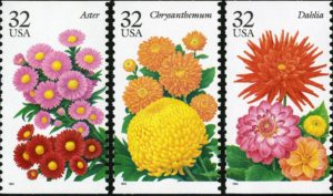 Beautiful Blooms highlights flowering plants on postage stamps. (U.S. Postal Service)