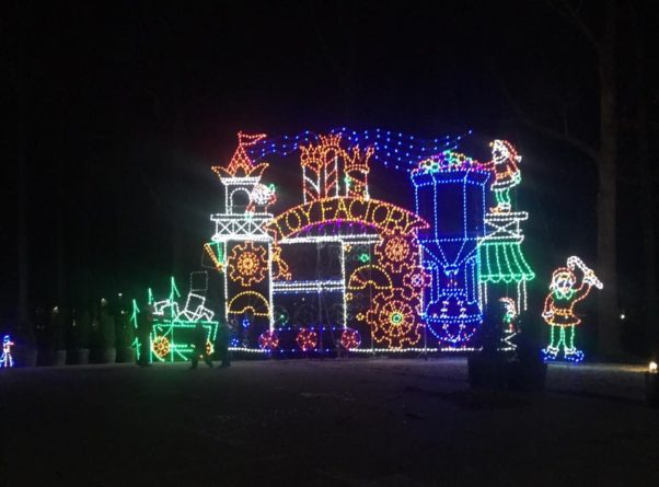 Symphony of Lights in Columbia more than 100 displays made with 300,000 bulbs. (Photo: Howard County General Hospital/Facebook)