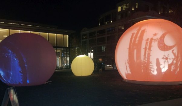 Light Yards includes four spheres with images projected onto them from inside. (Photo: Mark Heckathorn/DC on Heels)
