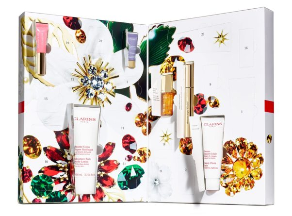 Clarin's Advent Calendar comes with makeup, and skincare products along with a very cute keychain. (Photo: ClarinsUSA)