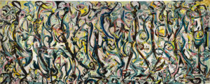 Jackson Pollock's Mural is now on dipslay at the National Gallery of Art. (Photo: National Gallery of Art)
