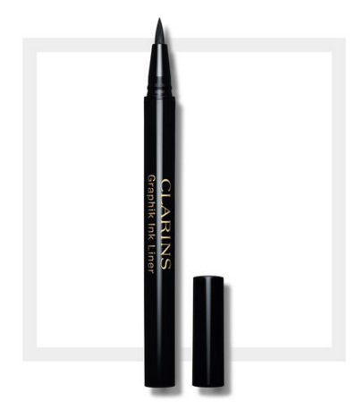 Clarins' Graphik Ink Liner Liquid Eyeliner Pen has a super fine tip, which makes creating a minimal eye-look very precise. (Photo: Clarins)