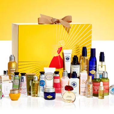 L'Occitane's Luxury Advent Calendar includes the best skin, body and bath products. (Photo: L'Occitane)