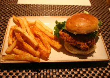 The chicken farcha burger and gunpowder fries is one of the new dishes on the expanded menu. (Photo: Mark Heckathorn/DC on Heels)