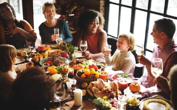 Going out for Thanksgiving dinner means everyone can have a good time and there are no dishes to wash. (Photo: Getty Images)