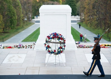 Veterans Day ceremonies will be held throughout the DMV, including a wreath-laying ceremony at the Tomb of the Unknows, on Saturday. (Photo: Rachel Larue/Arlington National Cemetery)