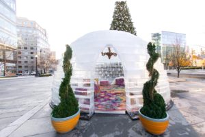An Ice Lounge is at CityCenterDC this weekend. (Photo: CityCenterDC)