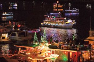 The annaul Holiday Boat Parade of Lights starts at Alexandria's waterfront and finishes at The Wharf in D.C. (Photo: The Wharf)