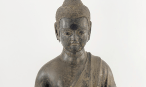 The newest exhibit at the Freer Gallery brings the only three known  life-size Chinese lacquer buddha sculptures together. (Photo: Freer Gallery)