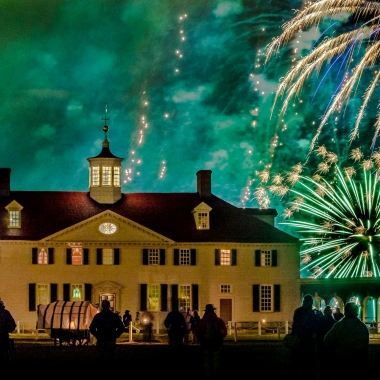 Christmas Illuminations at Mount Vernon this weekend features fireworks set to Christmas music. (Photo: Mount Vernon)