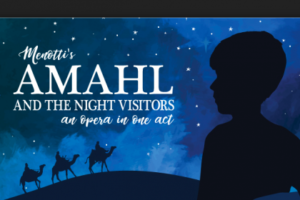 The GWU music, theater and dance programs present <em>Amahl and the Night Visitors</em> on Friday and Saturday. (Graphic: George Washington University)