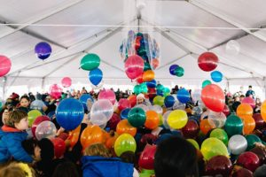 Ring in New Year's early at Noon Yards Eve and celebrate with a baloon drop. (Photo: Joy Asico)