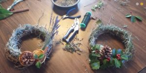 Make a herbal wreath at Tudor Place this weekend with greens from the grounds. (Photo: Tudor Place)