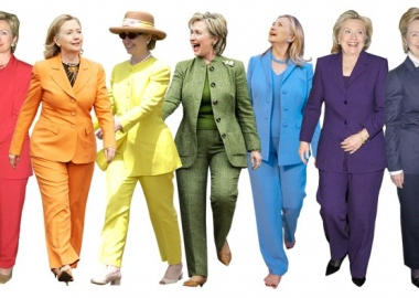 Hillary Clinton's pant suit in many different colors is her signature look. (Photo: WireImage/FilmMagic/Getty Images).