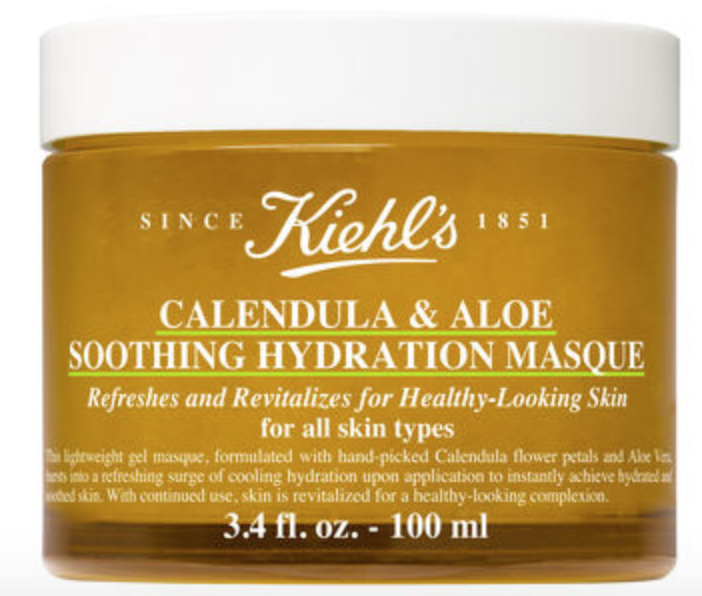 Kiehl's Calendulla & Aloe Soothing Hydration Masque uses hand picked calendula flowers and has a refreshing scent. (Photo: Kiehl's)