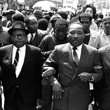 There are many events honoring Martin Luther King Jr. this weekend including the Newseum's new exhibit, 1968: Civil Rights at 50. (Photo: Jack Thornell/The Associated Press)