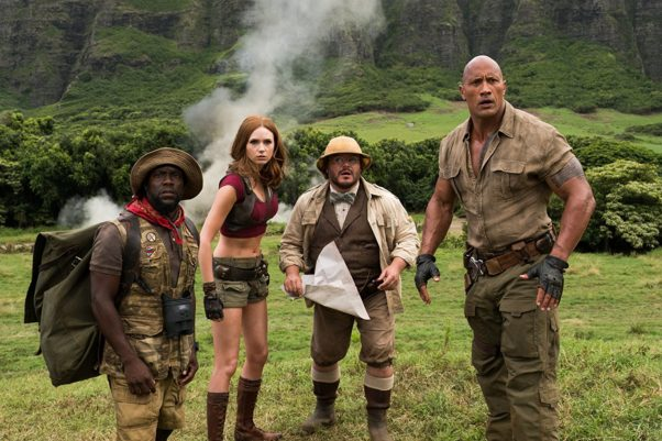 <em>Jumanji: Welcome to the Jungle</em> beat three new releases with $35.18 million to keep the lead another week. (Photo: Sony Pictures)