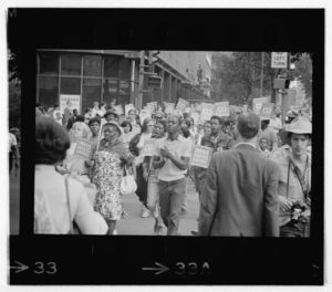 The Poor People's March at Lafayette Park and on Connecticut Avenue in 1968. (Photo: Library of Congress)