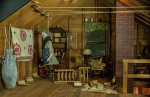 <em>Attic</em> by Frances Glessner Lee is on display at the Renwick Gallery through Sunday. (Photo: Renwick Gallery)