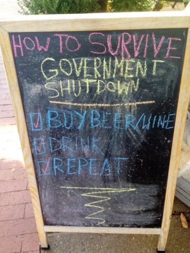 How to Survive Government: Buy Beer/Wine; Drink; Repeat (Photo: Cork Wine Bar & Market/Twitter)