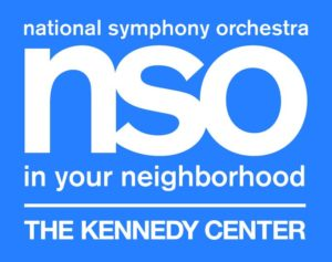 The National Symphony Orchestra will perform free concerts around D.C. this weekend. (Graphic: Kennedy Center)