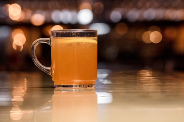 All Set Restaurnt and Bar will offer four new hot cocktails during the XXIII Winter Olympics beginning Friday, including this All-American Hot Toddy. (Photo: All Set Restaurant & Bar)