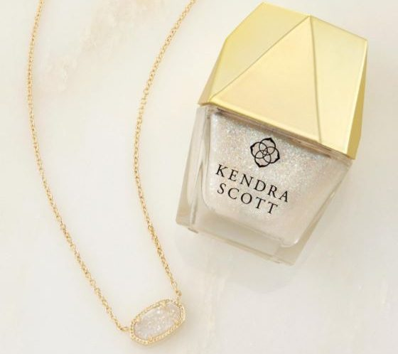 Purchase Kendra Scott's Elias necklace in iridescent drusy and get matching nail polish free. (Photo: Kendra Scott)