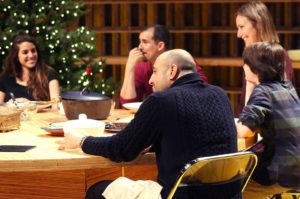 <em>Noura</em>, at the Lansburgh Theatre, is about Iraqi immigrants living in New York preparing to celebrate their first Christmas as American citizens and welcoming a refugee into their home. (Photo: Shakespeare Theatre Company/Facebook)