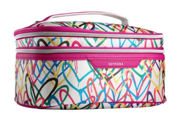 Sephora's Bleeding Hearts cosmetic bag by James Goldcrown is great for travel or for using in your bathroom. (Photo: Sephora)