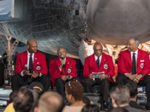 Visitors to the Air and Space Museum's Udvar-Hazy Center can hear a speakers share their tales of overcoming obstacles to make great contributions in both flight and space exploration. (Photo: Steven F. Udvar-Hazy Center)