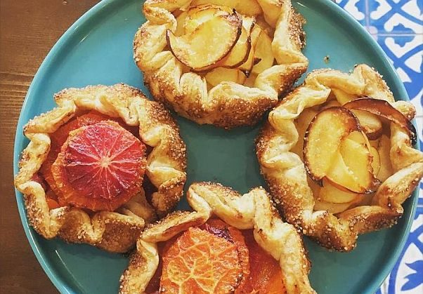 Apple and blood orange galettes from Pluma bakery, which opened near Union Market earlier this month. (Photo: Pluma/Facebook)