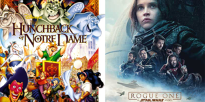 Pack a picnic and watch <em>The Hunchback of Notre Dame</em> and <em>Rogue One: A Star Wars Story</em> Friday from 6-11 p.m. at the National Cathedral. (Photos: Walt Disney Studios)