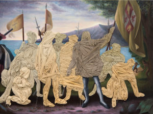 Columbus Day painting by Titus Kaphar (Photo: National Portrait Gallery)