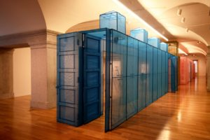 A recreation of Do Ho Suh's New York apartment hallway commission for the Smithsonian American Art Museum's exhibit. (Photo: Libby Weiler)